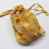 yellow chiffon scarf with gift bag