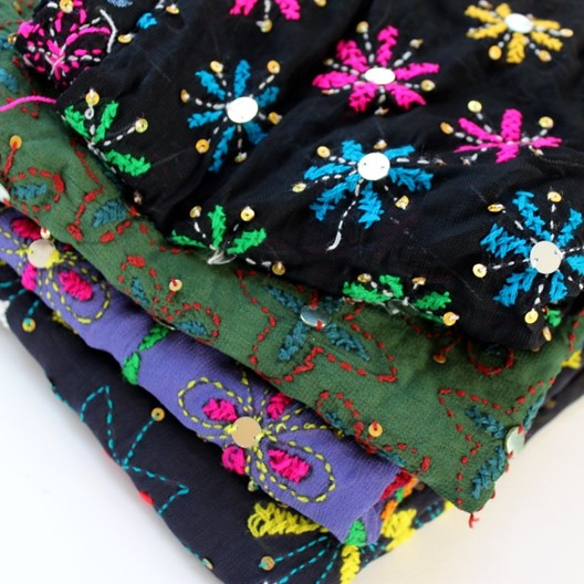 colorful festive scarves