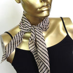 tussar silk cotton mini square scarf