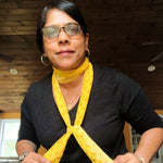 yellow scarftie narrow scarf by mayil