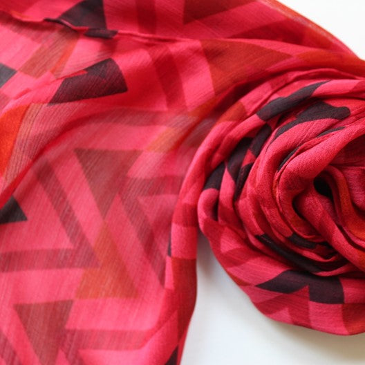 cerise pinkish red scarf