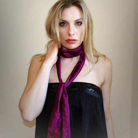 look chic in a silk skinny scarf from MAyil