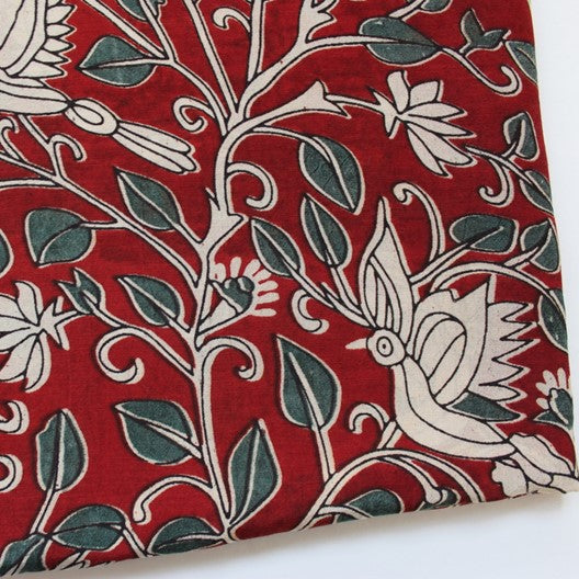 kalamkari motif screen printed ethnic scarf