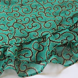 ruffle scarf with swirl patter
