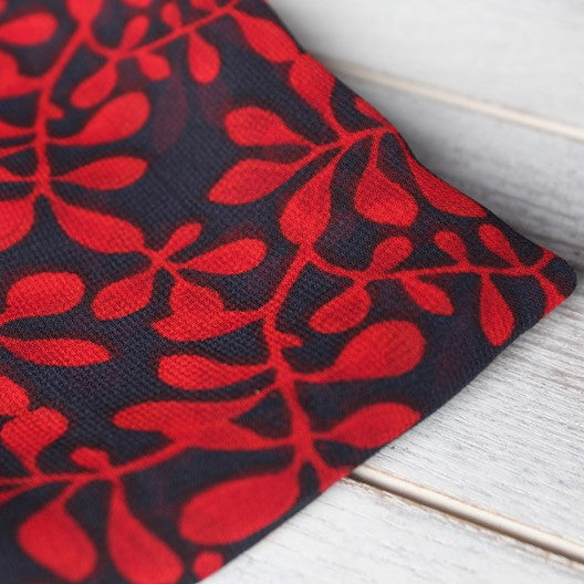 black red scarf