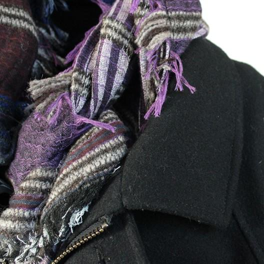 soft modal scarf for men - plaid purples