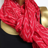 Red scarves for winter holiday gift shopping