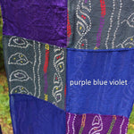 purple blue violet colors in a scarf from Mayil