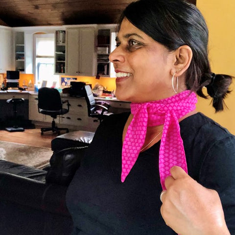 bright pink narrow scarf by mayil