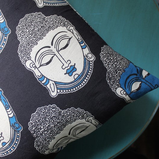 home decor with buddha kalamkari block print fabric