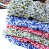 spring scarves block print chiffon scarves