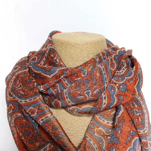 orange chiffon scarf