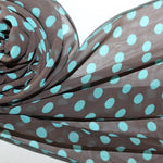 chiffon scarf with polka dots