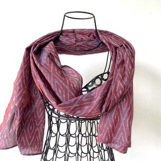 two tone silk cotton blend scarf