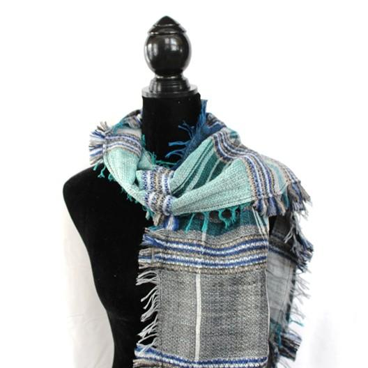 non wool plaid winter scarf for men