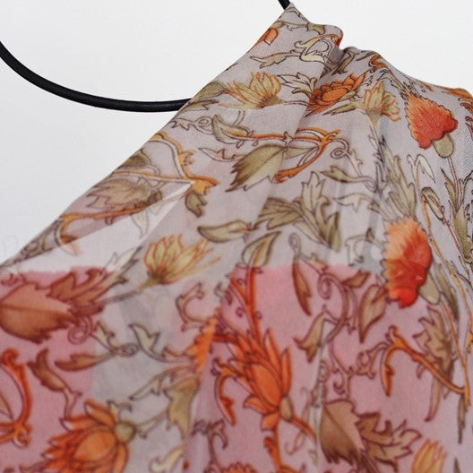 scarf with orange flowers