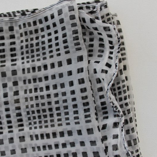checked chiffon scarf - regular or infinty
