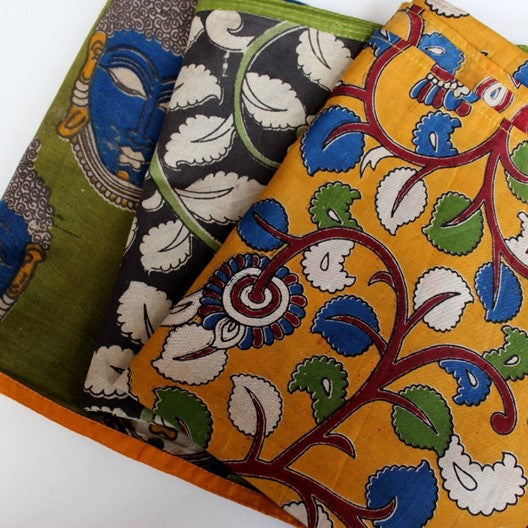 mayil's kalamkari scarf collection