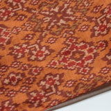 orange silk ikat scarf