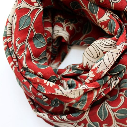 kalamkari scarves by mayil