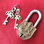 goddess of wealth - Lakshmi and om in a lock and key