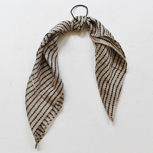 small scarf use as hair tie