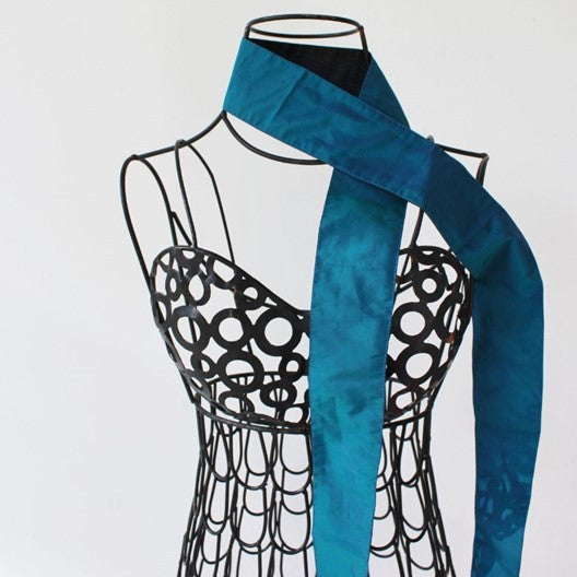 skinny scarf - double sided blue black or red black