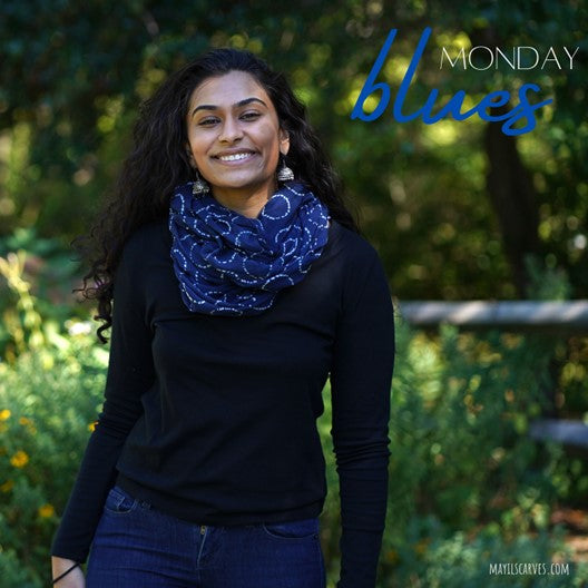 drive away monday blues with this mayil scarf