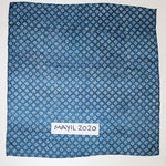 blue silk mini square
