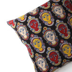 dancer faces in a throw pillow cover