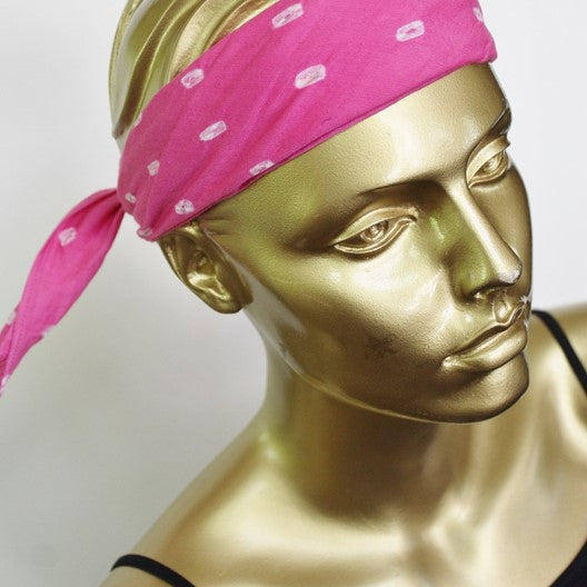mayil 2020 head band pink scarf