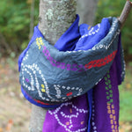 blue and violet patchwork scarf by Mayil