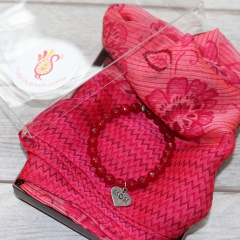 scarf and bracelet gift set