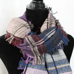 winter scarf for men with fringed edges