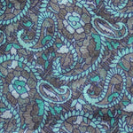 grey and turquoise paisley scarf