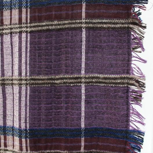 purple plaid winter scarf