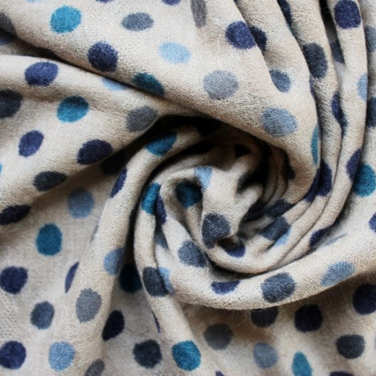 polka dot winter scarf
