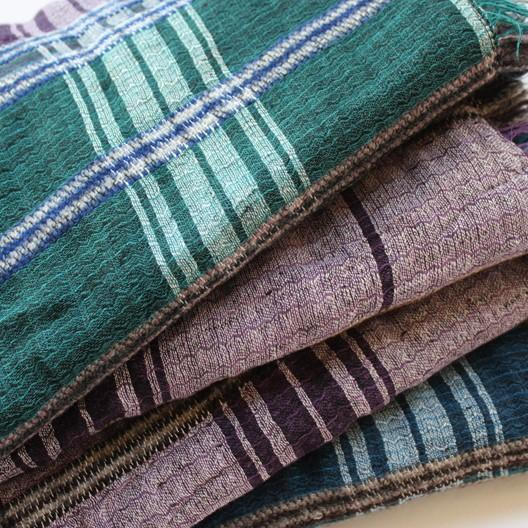 plaid scarf soft cotton double layered non-wool