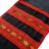 Embroidered scarf - black and red winter scarf for men
