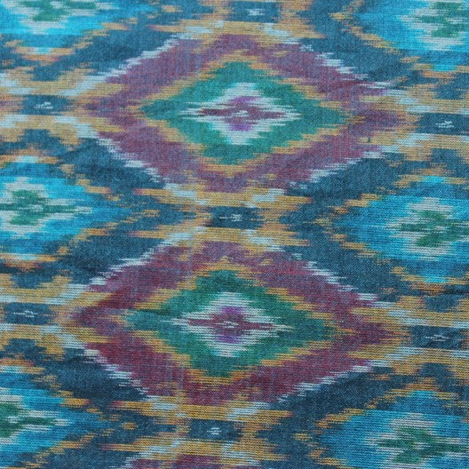 blue silk pochampally ikat scarf