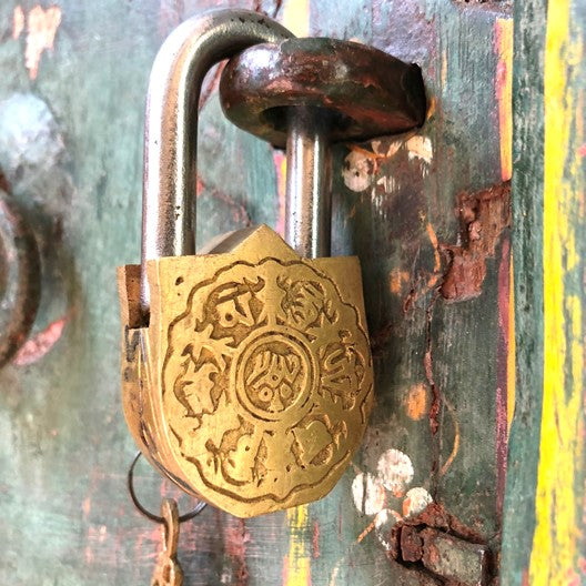 goddess of wealth - Lakshmi in a lock and key