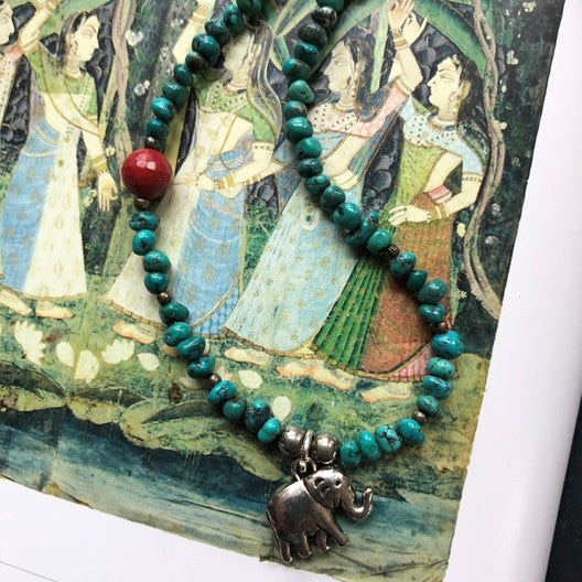 drishti elephant necklace