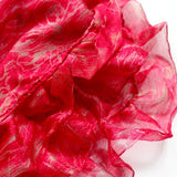 ruby pink ruffle scarf from Mayil