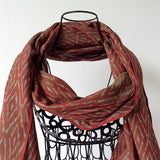 ikat scarves two tone weave