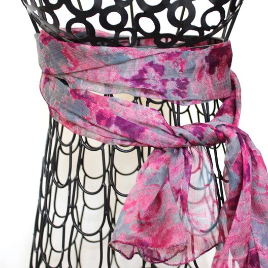 magenta marble scarf