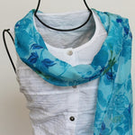 blue roses scarf