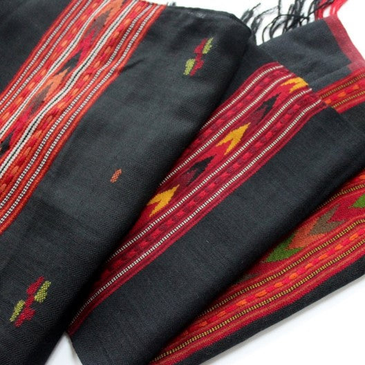 black winter scarves for men