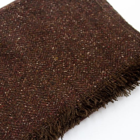 brown wool muffler scarf for men