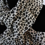 ruffle scarf chiffon fabric white and black dors