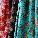 colorful mayil scarves with embroidery
